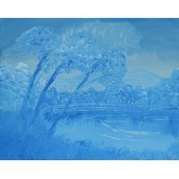 Blå natur [50 x 40 cm]